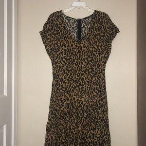 Zara Women Long cheetah print dress